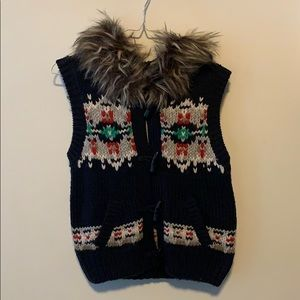 NWT AE Winter Sweater Vest